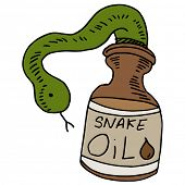 An image of a snake oil bottle.