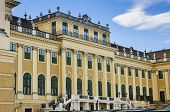 picture of sissi  - Schonbrunn Palace front facade architecture  - JPG