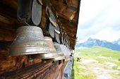 Traditional Swiss cowbells