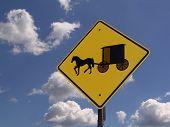 foto of mennonite  - road sign  - JPG