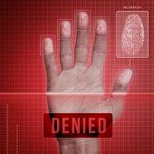 image of fail-safe  - Futuristic fingerprint scanning device  - JPG