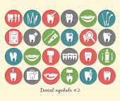 Постер, плакат: Set of dentistry symbols part 2