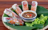 stock photo of rice  - Wrapped rolls - JPG