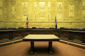 stock photo of court room  - Court Room in State Capitol Building  - JPG