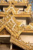 pic of muni  - Myanmar art on roof Pagoda of Maha Muni temple in Mandalay city - JPG