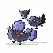 stock photo of vampire bat  - cartoon vampire bats - JPG