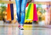 stock photo of legs feet  - Shopping time - JPG