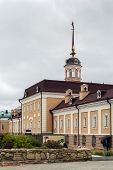 picture of artillery  - The main building of the Artillery Foundry is remarkable architectural monument of a military character in the Kazan Kremlin Russia - JPG