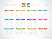 picture of august calendar  - Calendar 2015 year vector design print template - JPG