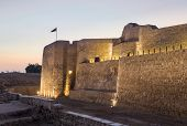 picture of bahrain  - Sunset at the recontructed Bahrain Fort near Manama at Seef Bahrain - JPG