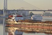 foto of braces  - Cargo ship and cable - JPG