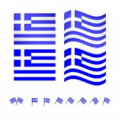 picture of sparta  - Set of flags of Greece eps 10 - JPG