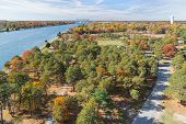 foto of cape-cod  - Cape Cod Canal on an Autumn day - JPG