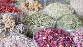 pic of arabian  - Colorful spices on the traditional arabian souk  - JPG