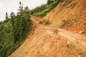 foto of landslide  - Close view of landslide in longsheng china - JPG