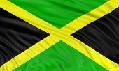 pic of jamaican  - 3D Jamaican flag with fabric surface texture - JPG