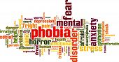 image of dreads  - Phobia word cloud concept - JPG