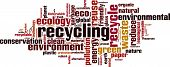 pic of dumpster  - Recycling word cloud concept - JPG