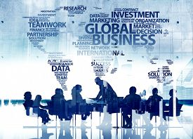 pic of globalization  - Business People Silhouette Conference Teamwork Global Business Concepts - JPG