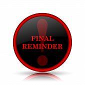 image of reminder  - Final reminder icon - JPG