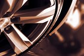image of alloy  - Alloy Car Wheel Closeup - JPG