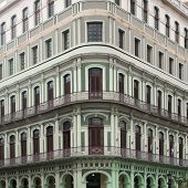 picture of building relief  - Beautiful facade of the old building - JPG
