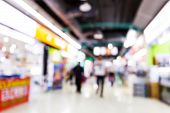 image of department store  - Abstract blurred people shopping in department store - JPG