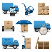 picture of lift truck  - Vector Delivery Icons Set 4 - JPG
