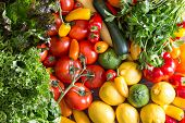 picture of pepper  - Assorted Fresh Healthy Organic Vegetables  - JPG