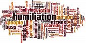 stock photo of humility  - Humiliation word cloud concept - JPG