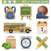 picture of knapsack  - School Icons Set 1 - JPG