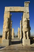 picture of xerxes  - Persepolis view on entrance gate to historical complex - JPG