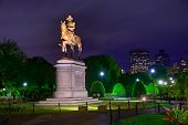 picture of washington monument  - Boston Common George Washington monument sunset at Massachusetts USA - JPG