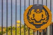 picture of malaysia  - Royal seal on the gate of the new Istana Negara which is the royal residence of the Yang di - JPG