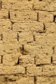 picture of mud  - vertical image of old mud brick wall - JPG