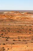 stock photo of bottomless  - desert near breakaways at coober pedy in australian outback - JPG