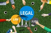 Legal Law Rules Community Justice Social Gathering Concept poster