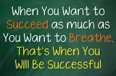 When You Want to Succeed... poster
