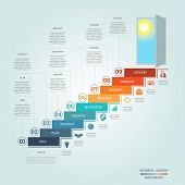 Business Success Startup Infographics Nine Positions poster
