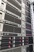 picture of supercomputer  - Picture of a powerful network server from angle perspective - JPG