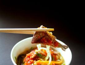 stock photo of thai food  - a photo of delicious thai food and thai cuisine - JPG