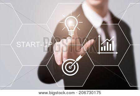 poster of Start-up Funding Crowdfunding Investment Venture Capital Entrepreneurship Internet Business Technology Concept.