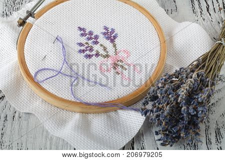 Embroidery Flowers Sewing Accessories Canvas