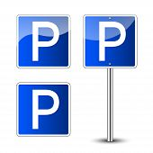 Parking Signs Isolated poster