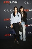 WEST HOLLYWOOD - FEB 12:  Eva Chow, Asia Chow arriving at the Gucci and RocNation Pre-GRAMMY Brunch
