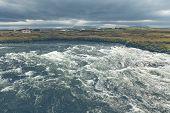 Summer Iceland Landscape With Raging River poster