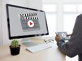 Video Marketing Audio Video  ,  Market Interactive Channels , Business Media Technology Innovation M poster