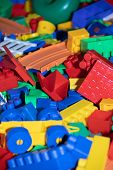 Scattered Childrens Toys. Childrens Games. Mess. . Bright Childrens Toys poster