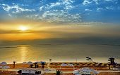 Dead Sea, Is A Salt Lake Bordering Jordan To The North, And Israel To The West. Its Surface And Shor poster