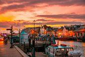 Dorset Weymouth Harbour At Sunset, England, Uk poster
